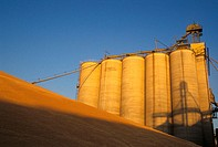 Grain storage bins, USA
