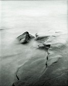 Pinhole image of water on the shore of Lake Superior in Northern Minnesota.