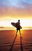 Surfer. Oregon. USA.