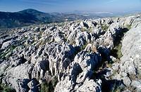 Lapiaz, Parque natural de la Subbetica, Cordoba province, Spain