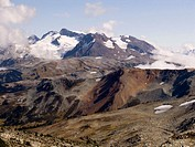 Volcanic landscape. British Columbia Coast Range near Whistler. Canada.