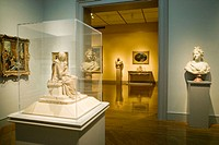 Room with sculptures and paintings. Los Angeles County Museum of Art. Los Angeles. California. United States
