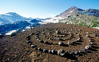 Stone spiral. Three Sisters Wilderness. Oregon. USA.