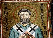St. Augustin, Mosaics in Cappella Palatina (12th century), Palermo, Sicily, Italy
