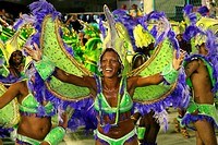 Smiling woman at Carnival, Rio de Janeiro