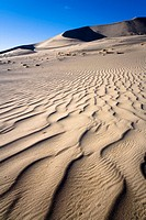 Lines of sand at Eureka Dunes in Death Valley National park, California. USA.