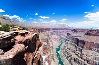 View of Grand Canyon and Colorado River in Arizona. USA.