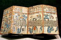 Grolier codex. Maya civilization. National Museum of Anthropology, Mexico D.F. Mexico.