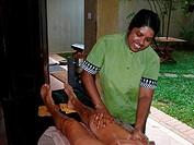 Sri Lanka, Ayurveda, employees, woman, legs, massages, detail, people, men, tourist, women-legs, oil, aroma-oil, massages in, nature healing, medicine...