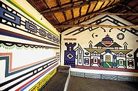 interior,of,Ndebele,house,,Kgodwana,cultural,village,,South,Africa