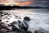 Cove at Punta Lucero by La Arena beach, Muskiz. Biscay, Euskadi, Spain