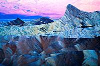 Early morning at Zabriske point in Death Valley National Park. California, Usa.