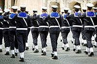 Army parade, Rome. Lazio, Italy