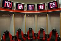 AC Milan dressing room , San Siro Stadium, Milan, Italy
