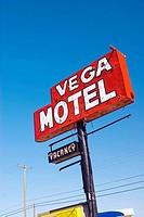 USA Texas Route 66 Vega Motel Sign