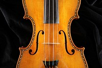 Violin in Stradivarius style made by luthier Fernando Solar Garcia nd preserved in the Royal Palace, Madrid, Spain