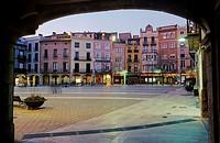 Main Square, Igualada. Anoia, Barcelona province, Catalonia, Spain