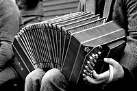 Man playing accordion, San Telmo, Buenos Aires, Argentina