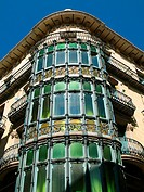 Gallery of Casa Magi Llorens art nouveau building by architect Francisco Lamolla, Lleida. Catalonia, Spain
