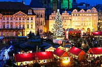Christmas market in Old Town Square, Prague, Czech Republic