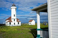 Point Wilson Lighthouse in Fort Worden State Park, Port Townsend, Washington State, USA