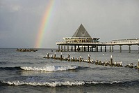 Rainbow at the Seebruecke of Heringsdorf, Usedom, Germany