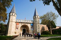 The Gate of Salutations the entrance to the Topkapi Palace Museum Istanbul Turkey