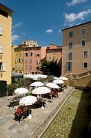 Outdoor café, Place de l´Eveche, Grasse, Provence, France