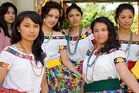 Mexico Tabasco Comalcalco Jesus Mary cocoa plantation People with traditional clothes