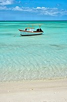 Long stretched beaches on the West coast of Aruba near the high rise hotels  This beach is known as Palm Beach