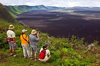 Volcan Chico, Sierra Negra shield volcano, Isabela Island, Galapagos Islands, Ecuador