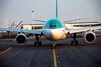 Ground traffic, JFK airport, New York, USA