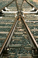 Railways. Villefranche-de-Conflent. Pyrenees-Orientales, Languedoc-Roussillon, France