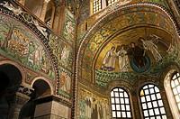Italy, Ravenna, Basilica di San Vitale  Famous 6th century byzantine mosaics