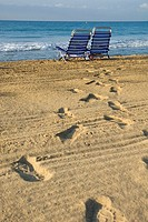 Beach chairs in Atafulla beach
