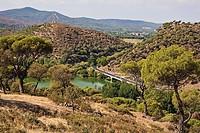 Embalse de Picadas desde el cerro San Juan  Navas del Rey. Madrid, Spain