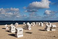 Strandkoerbe / Beach Chairs / Hoernum / Sylt / Deutschland / Germany