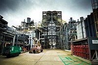 A modern gas fired power station in Teesside, England, UK