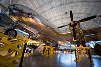 The Enola Gay, located at the Steven F  Udvar-Hazy Center Smithsonian hangar in Dulles, Virginia  The Enola Gay dropped the first atomic bomb in anger...
