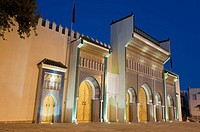 Ornate bronze doorway, Royal Palace, Fez el-Jedid, Fez, Morocco