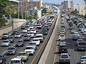 Traffic, Honolulu, Hawaii, USA