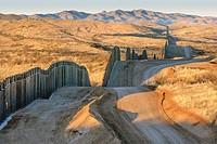 United States border fence, US/Mexico border, Nogales, Arizona USA