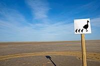 Sign  Ebro delta wetland area, Tarragona province, Catalonia, Spain