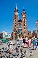 St Mary´s Church Old Town Square Cracow Poland
