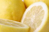 Close up of lemon cut in half