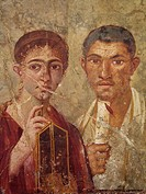 Portrait of Terentius Neo and his wife Pompeii Naples Italy