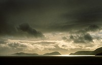 Storm over Blasket Islands from Slea Head, Dingle Peninsula, Co  Kerry, Ireland  L-R Inishvickillane, Inishabro, Great Blasket