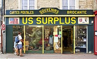 US military surplus store St Mere Eglise Normandy France