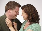Flirtatious heterosexual couple