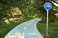 Bicycle trail in Zamora city, Castile-Leon, Spain